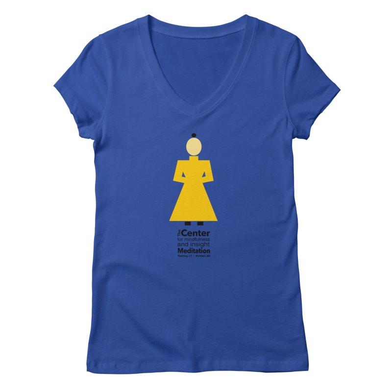 Centered Monk Women's V-Neck by reddingmeditation's Artist Shop