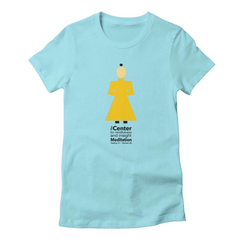 Centered Monk Women's Fitted T-Shirt by reddingmeditation's Artist Shop
