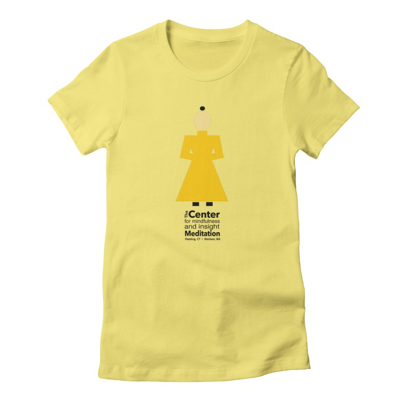Centered Monk Women's Fitted T-Shirt by Redding Meditation's Artist Shop