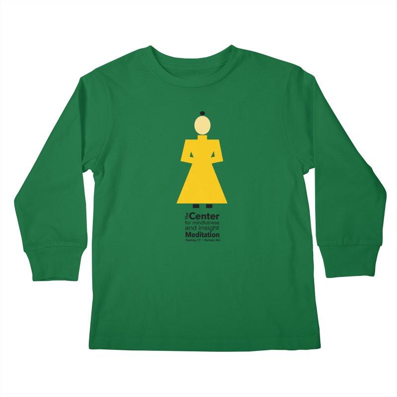 Centered Monk Kids Longsleeve T-Shirt by Redding Meditation's Artist Shop