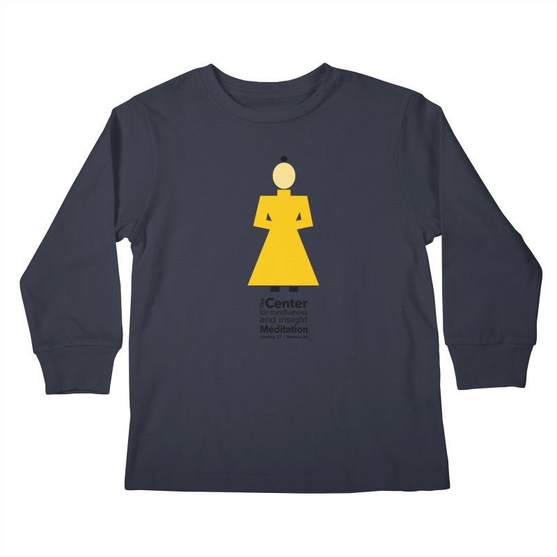 Centered Monk Kids Longsleeve T-Shirt by reddingmeditation's Artist Shop