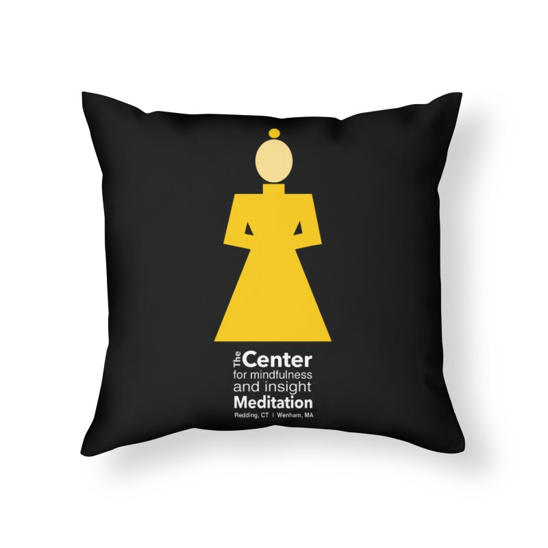 Centered Monk reverse Home Throw Pillow by reddingmeditation's Artist Shop