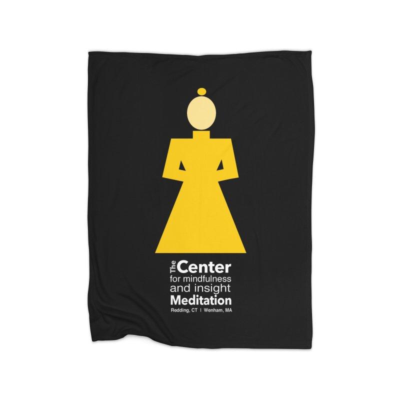 Centered Monk reverse Home Blanket by reddingmeditation's Artist Shop