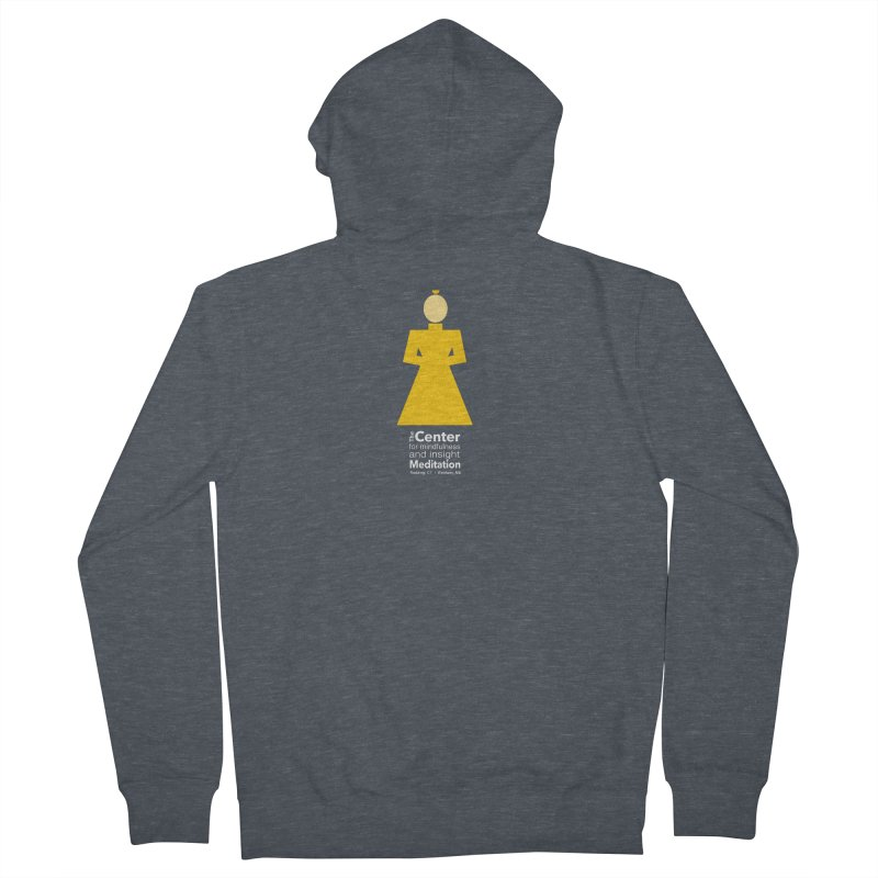 Centered Monk reverse Women's Zip-Up Hoody by reddingmeditation's Artist Shop