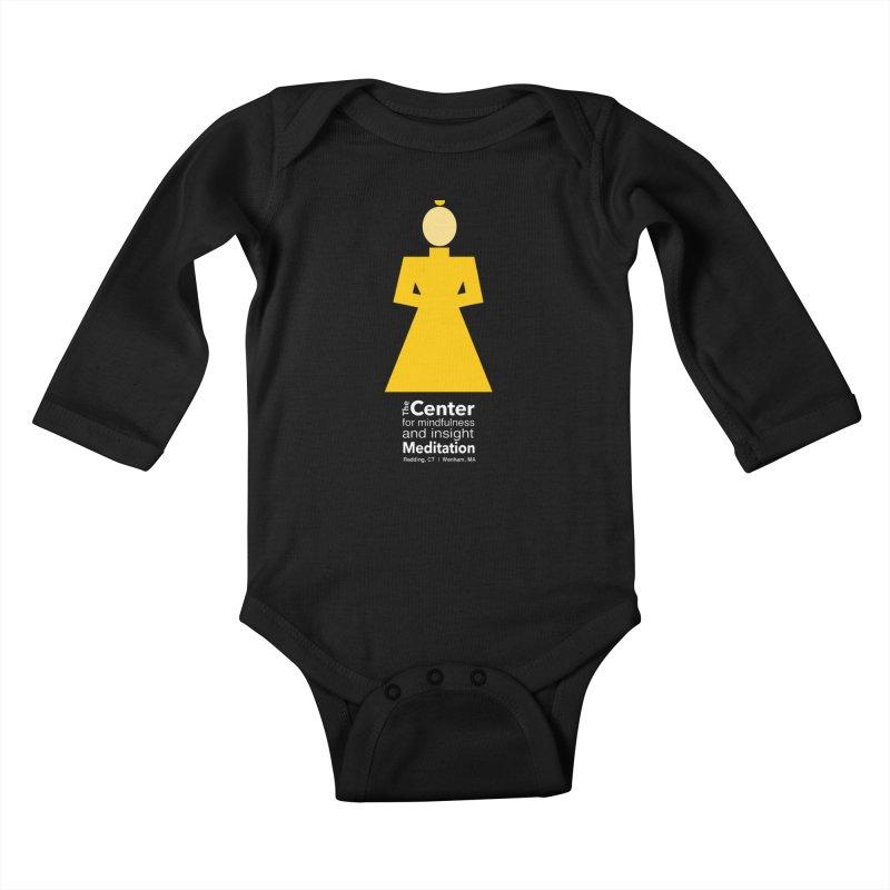 Centered Monk reverse Kids Baby Longsleeve Bodysuit by reddingmeditation's Artist Shop
