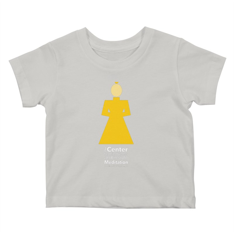 Centered Monk reverse Kids Baby T-Shirt by reddingmeditation's Artist Shop