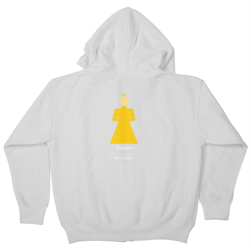 Centered Monk reverse Kids Zip-Up Hoody by reddingmeditation's Artist Shop