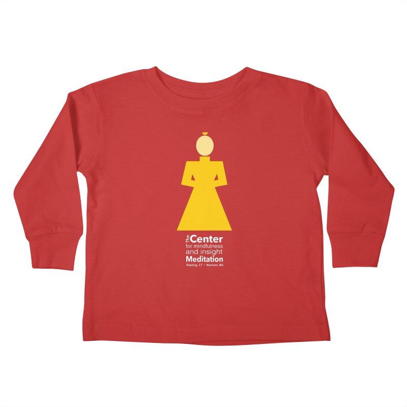 Centered Monk reverse Kids Toddler Longsleeve T-Shirt by reddingmeditation's Artist Shop