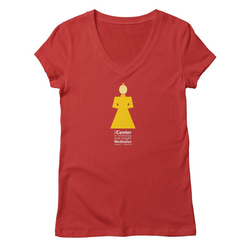 Centered Monk reverse Women's V-Neck by reddingmeditation's Artist Shop