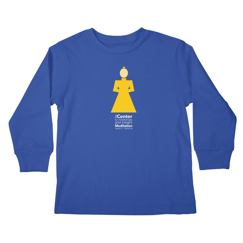Centered Monk reverse Kids Longsleeve T-Shirt by Redding Meditation's Artist Shop
