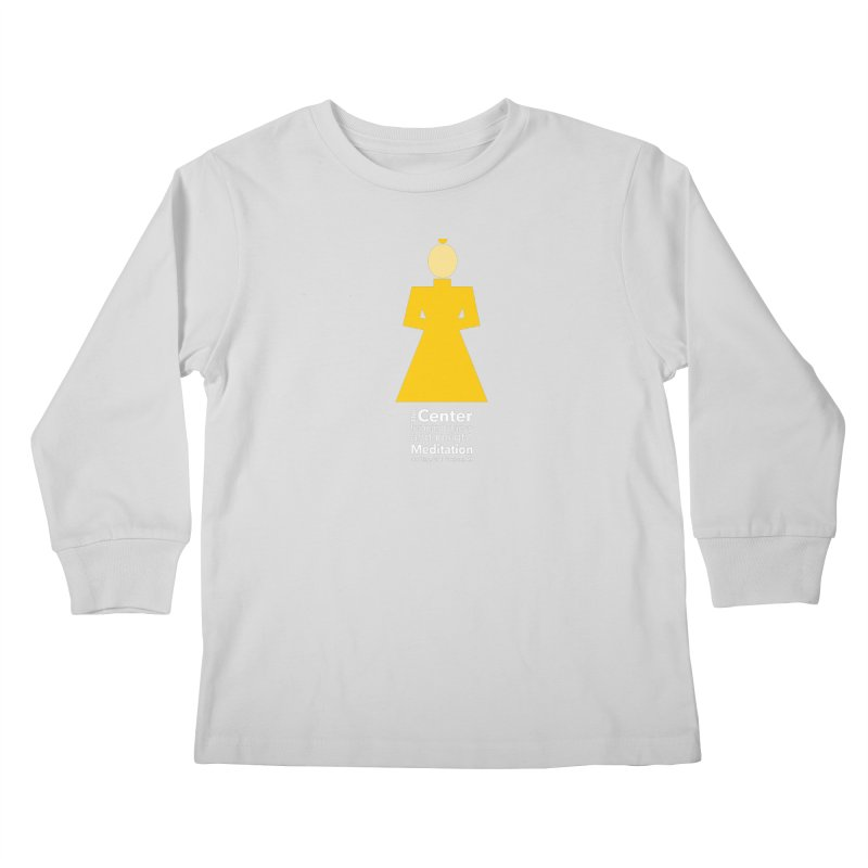 Centered Monk reverse Kids Longsleeve T-Shirt by reddingmeditation's Artist Shop