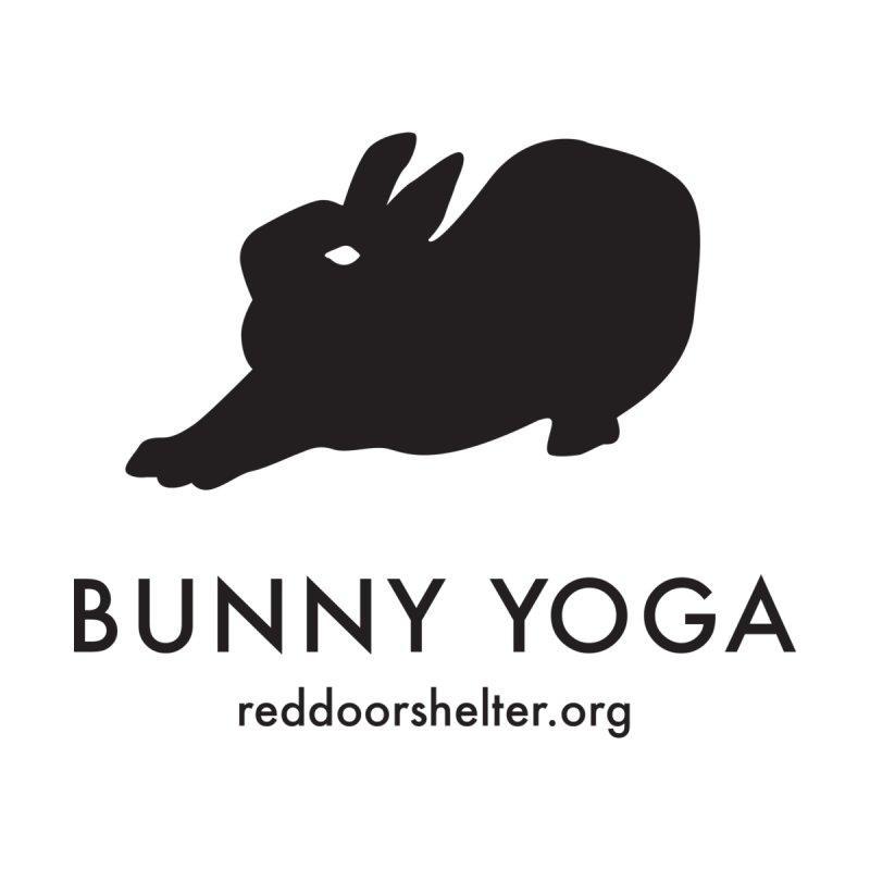 Bunny Yoga Black by Red Door Animal Shelter's Artist Shop