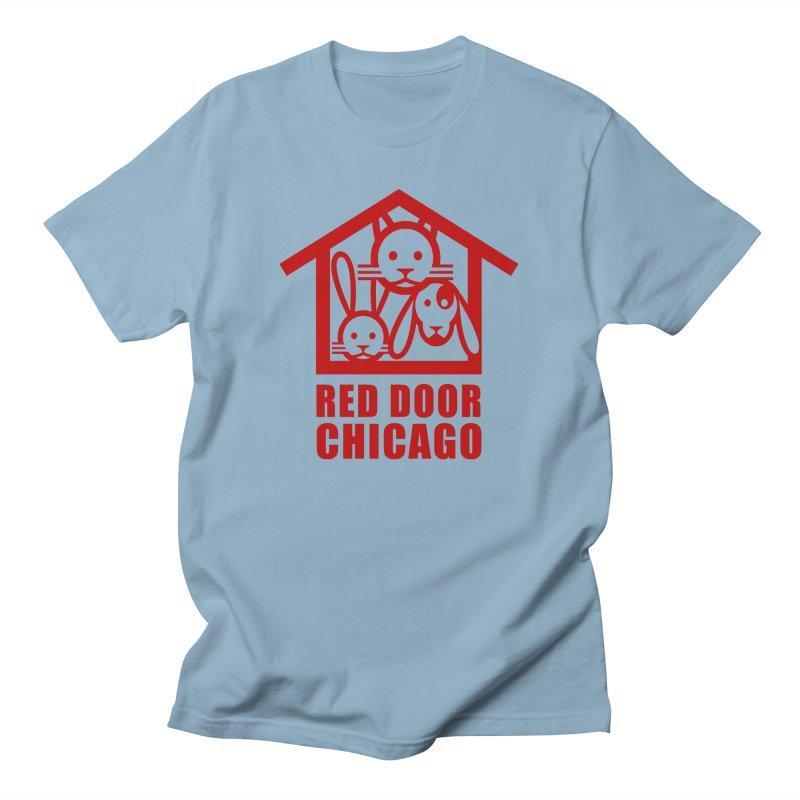 RDChicago red Men's Regular T-Shirt by Red Door Animal Shelter's Artist Shop