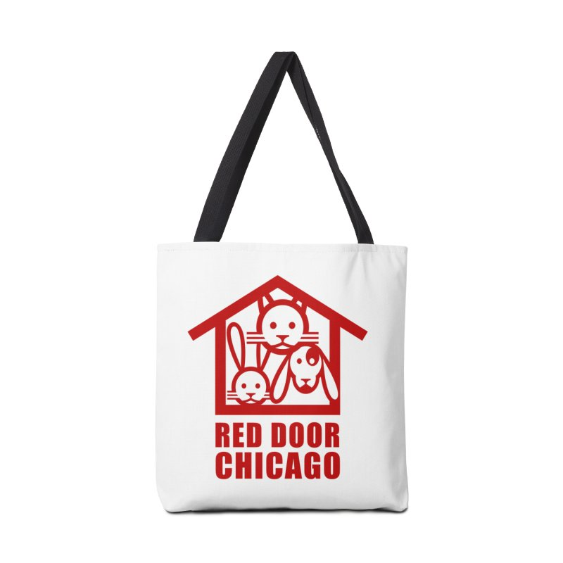 RDChicago red Accessories Tote Bag Bag by Red Door Animal Shelter's Artist Shop