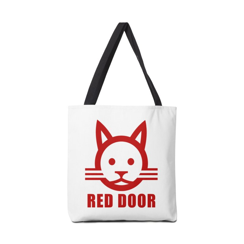 RDcat red Accessories Tote Bag Bag by Red Door Animal Shelter's Artist Shop