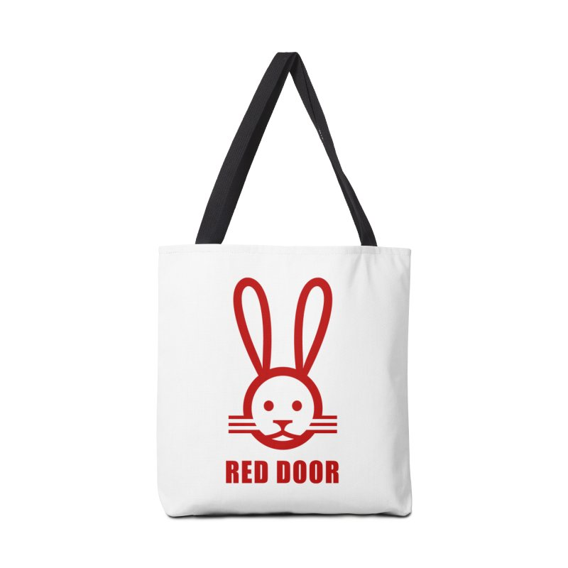 RDbun red Accessories Tote Bag Bag by Red Door Animal Shelter's Artist Shop