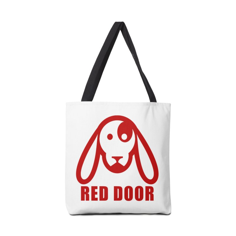 RDdog red Accessories Tote Bag Bag by Red Door Animal Shelter's Artist Shop