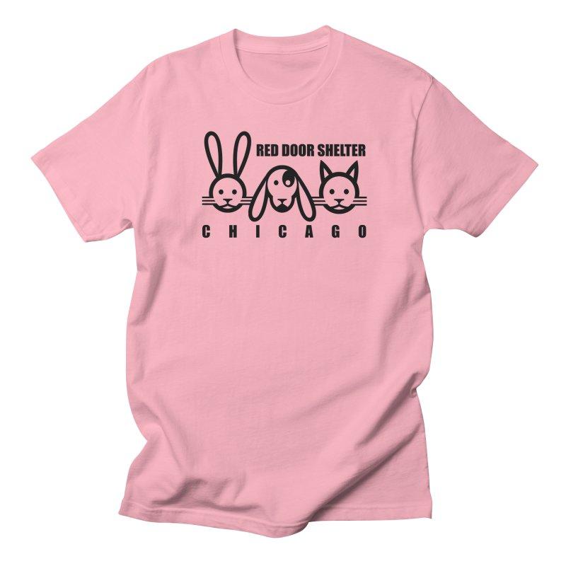 DogCatRabbit Men's Regular T-Shirt by Red Door Animal Shelter's Artist Shop