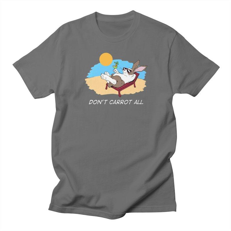 Carrot white lettering Men's Regular T-Shirt by Red Door Animal Shelter's Artist Shop