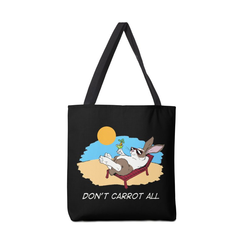Carrot white lettering Accessories Tote Bag Bag by Red Door Animal Shelter's Artist Shop