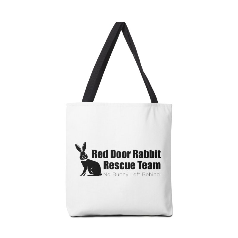 Rabbit Rescue Team Accessories Tote Bag Bag by Red Door Animal Shelter's Artist Shop