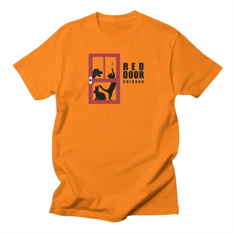 Shelter Door Men's Regular T-Shirt by Red Door Animal Shelter's Artist Shop