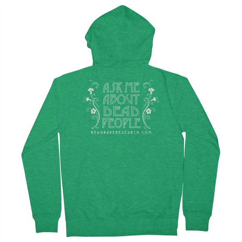 Ask me about dead people Men's Zip-Up Hoody by redgraveresearch's Shop