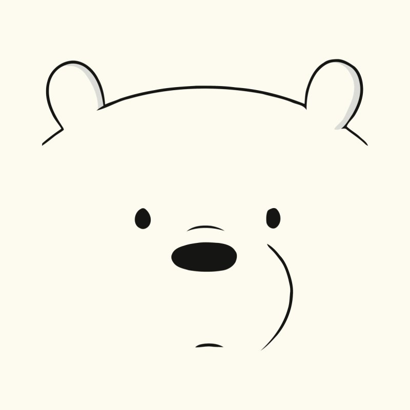 Redhare We Bare Bears Ice Bear Accessories
