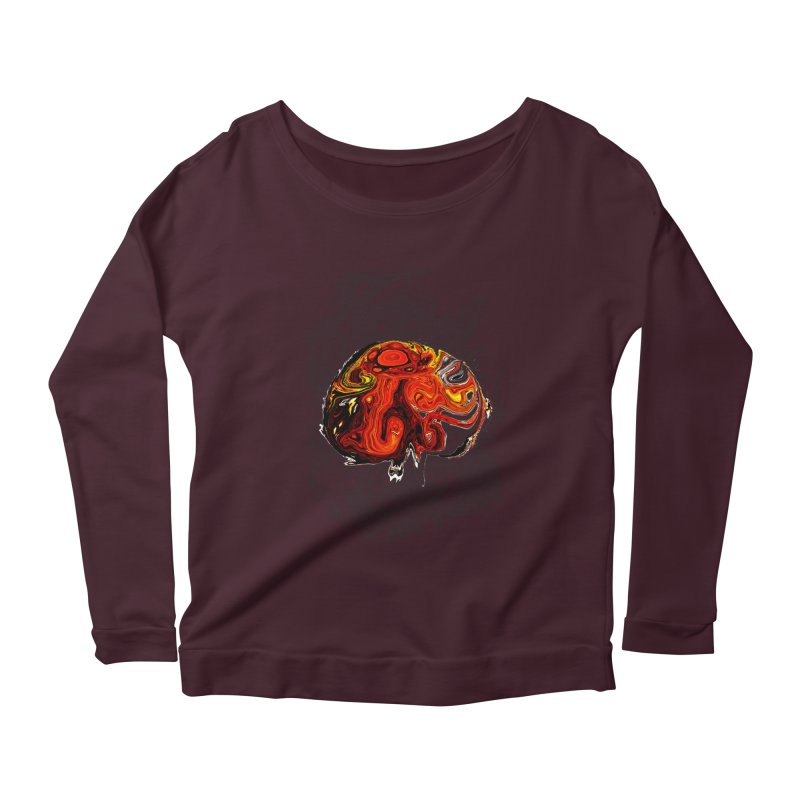 Jovian Brainstorm Women's Scoop Neck Longsleeve T-Shirt by RedHeat's Shop