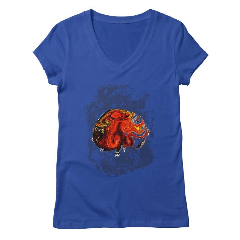 Jovian Brainstorm Women's Regular V-Neck by RedHeat's Shop