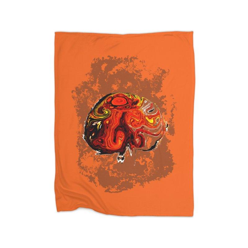 Jovian Brainstorm Home Fleece Blanket Blanket by RedHeat's Shop
