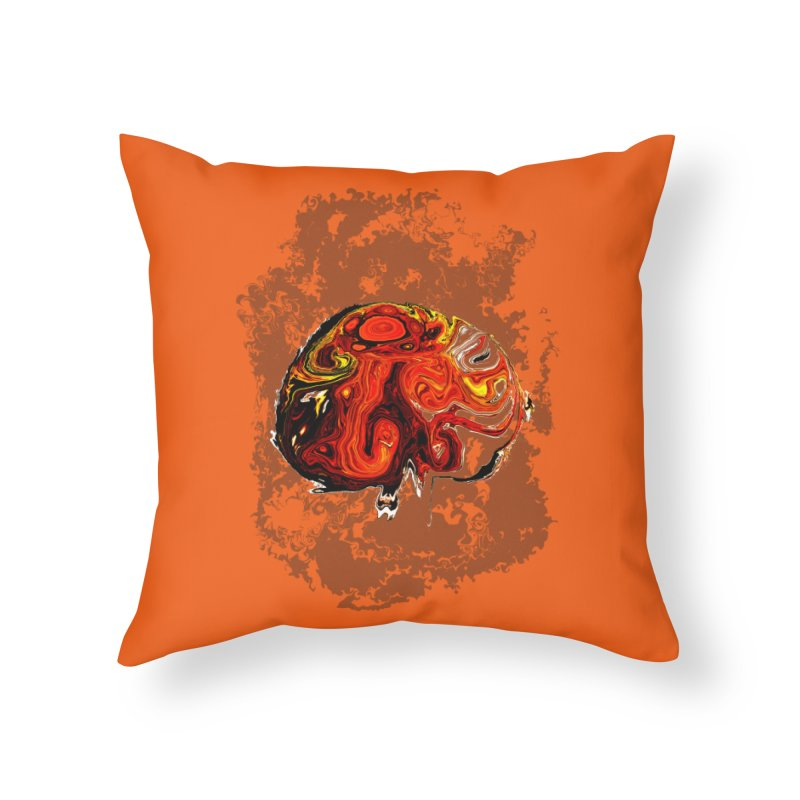Jovian Brainstorm Home Throw Pillow by RedHeat's Shop