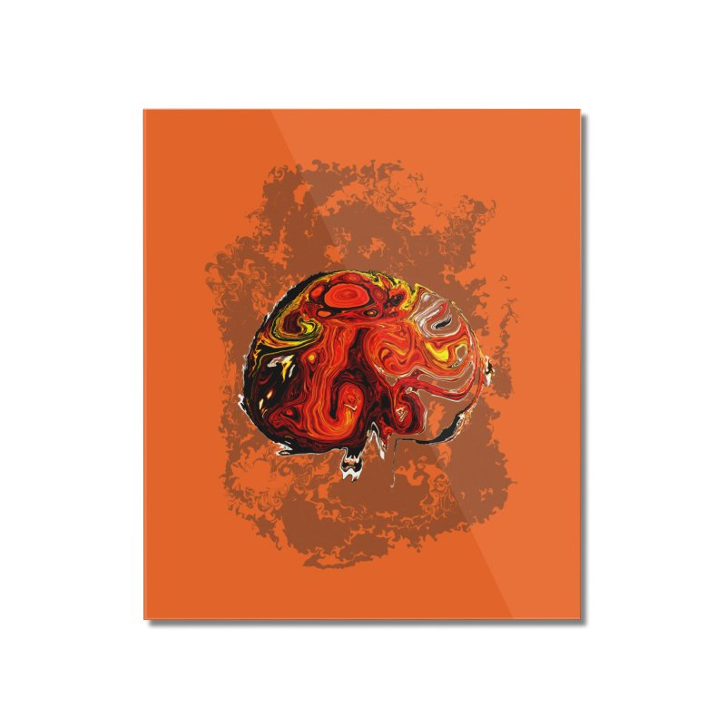 Jovian Brainstorm Home Mounted Acrylic Print by RedHeat's Shop