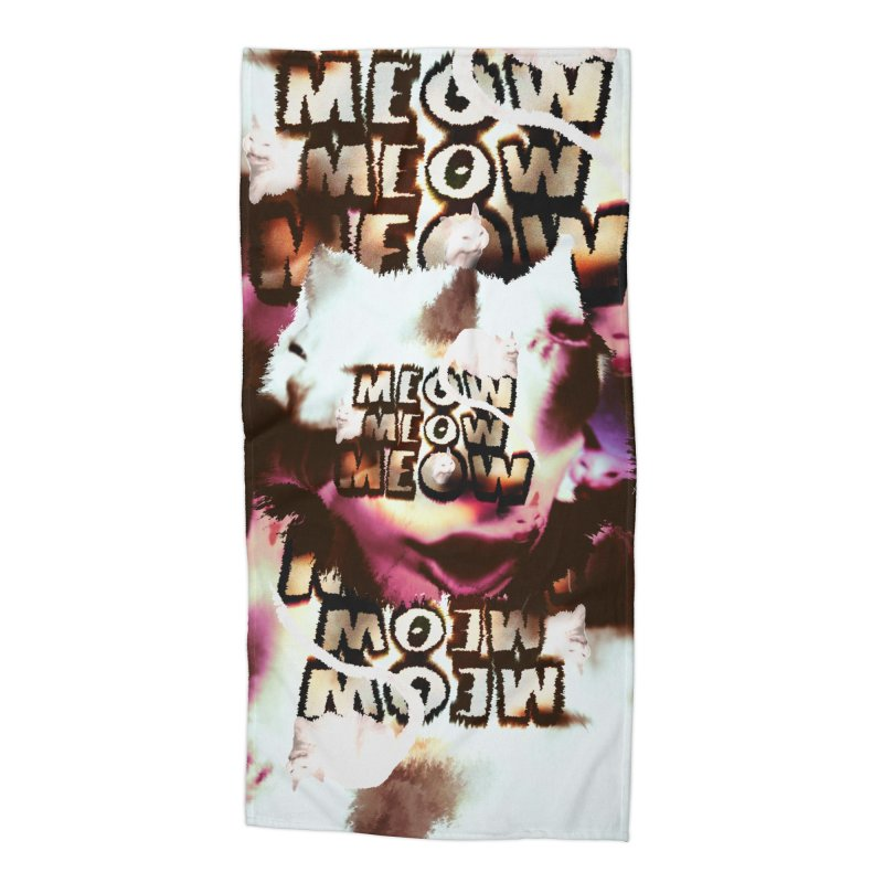 Meow Meow Meow Accessories Beach Towel by RedHeat's Shop