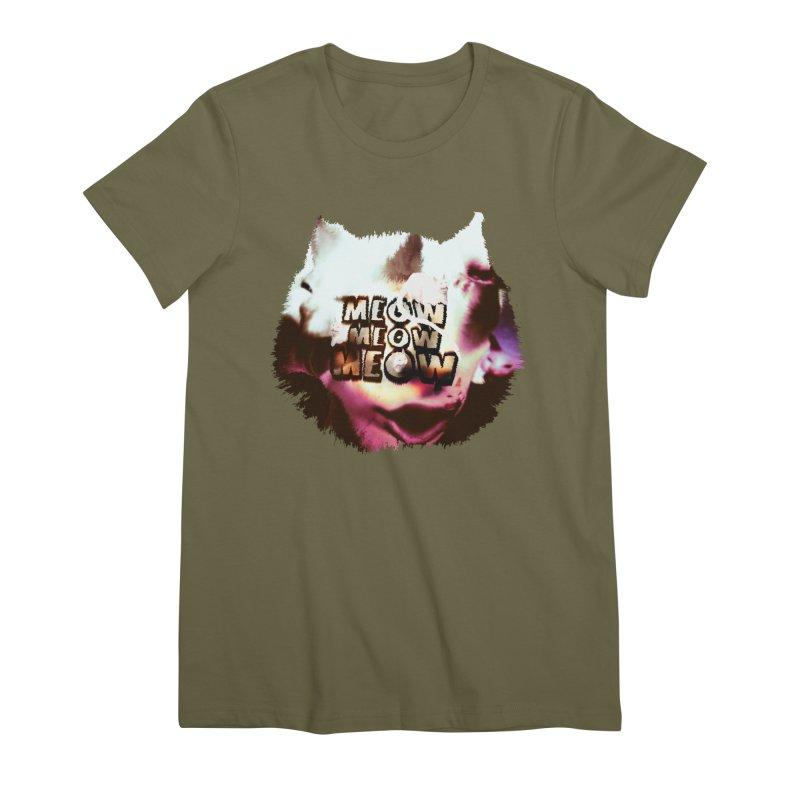 Meow Meow Meow Women's Premium T-Shirt by RedHeat's Shop