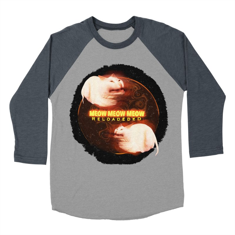 Meow Meow Meow Reloadeded Men's Baseball Triblend Longsleeve T-Shirt by RedHeat's Shop