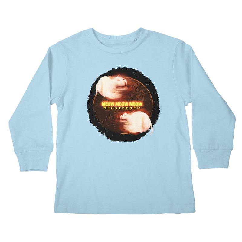 Meow Meow Meow Reloadeded Kids Longsleeve T-Shirt by RedHeat's Shop