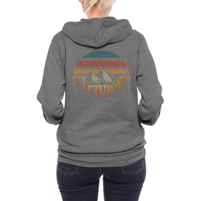 Deeply Wild Women's Zip-Up Hoody by redhorse's Artist Shop
