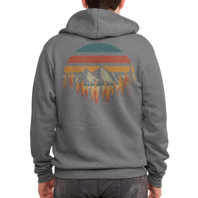 Deeply Wild Men's Zip-Up Hoody by redhorse's Artist Shop