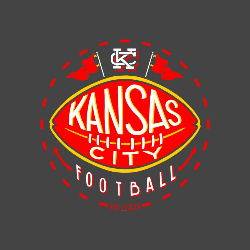 KC Football (Dark) Men's Longsleeve T-Shirt by redleggerstudio's Shop