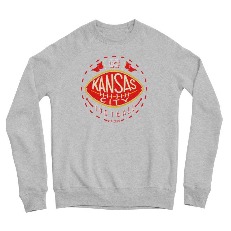 KC Football (Dark) Men's Sponge Fleece Sweatshirt by redleggerstudio's Shop