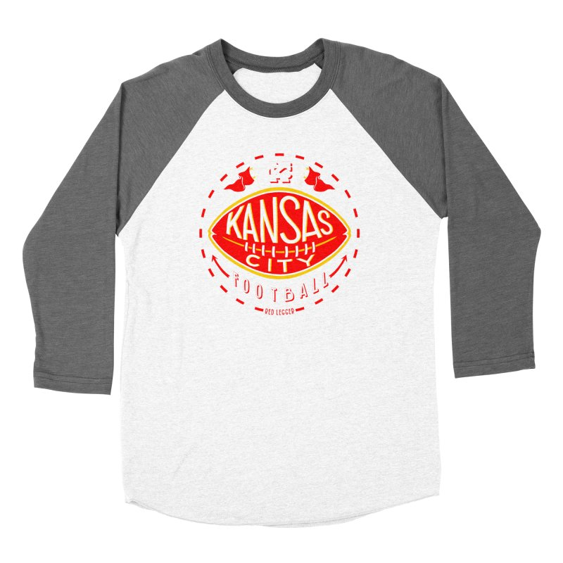 KC Football (Dark) Men's Baseball Triblend Longsleeve T-Shirt by redleggerstudio's Shop