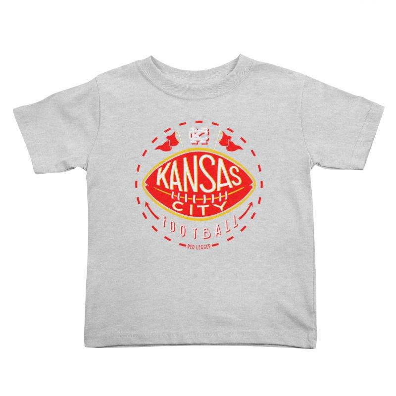 KC Football (Dark) Kids Toddler T-Shirt by redleggerstudio's Shop