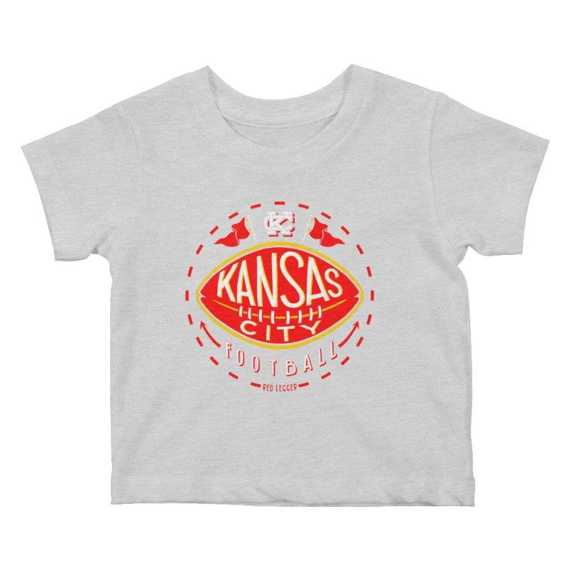 KC Football (Dark) Kids Baby T-Shirt by redleggerstudio's Shop