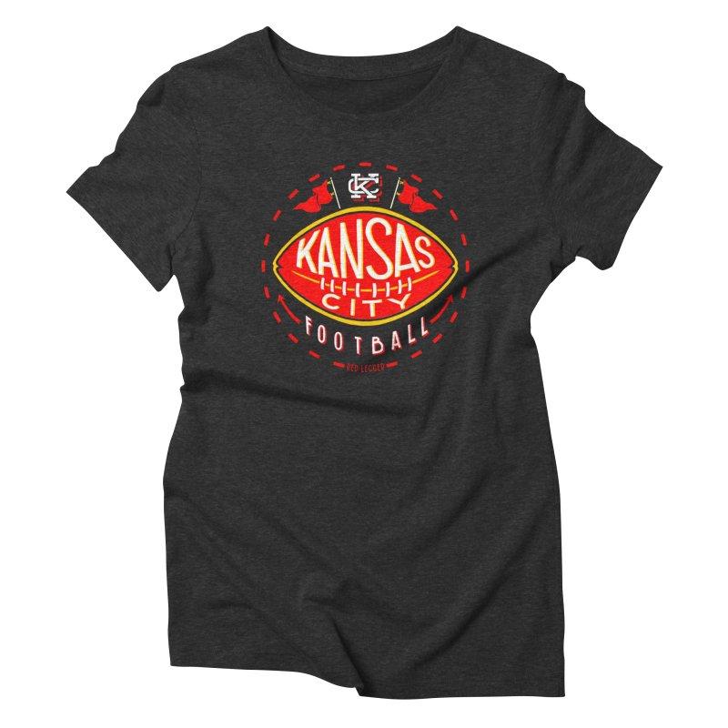 KC Football (Dark) Women's T-Shirt by redleggerstudio's Shop