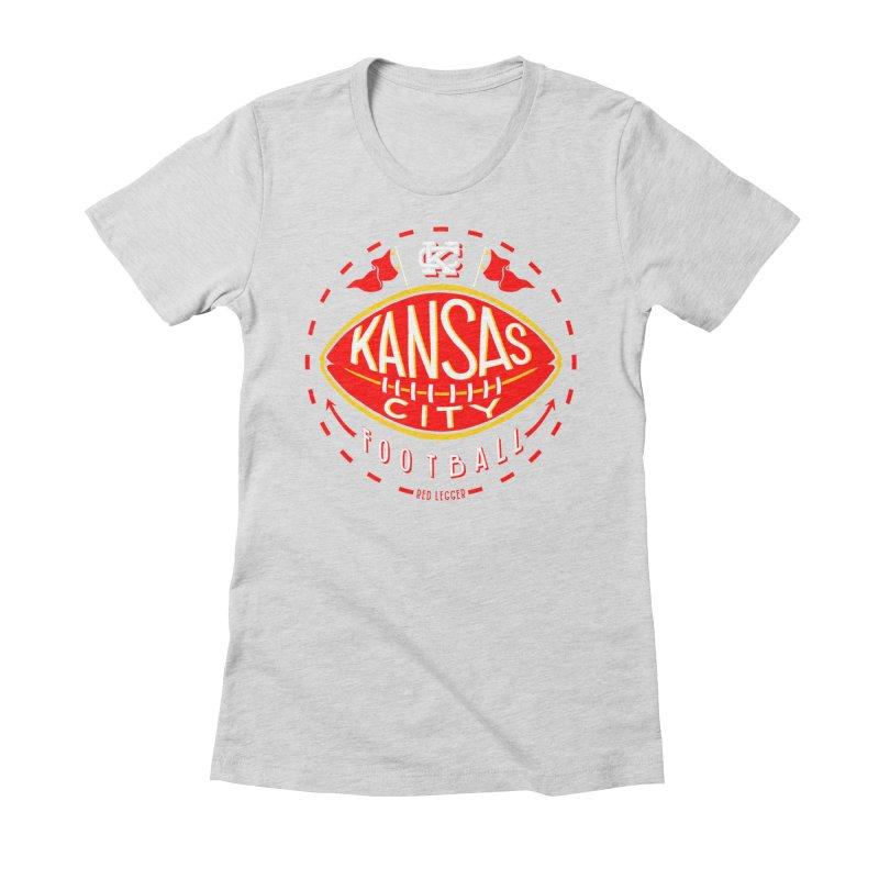 KC Football (Dark) Women's Fitted T-Shirt by redleggerstudio's Shop