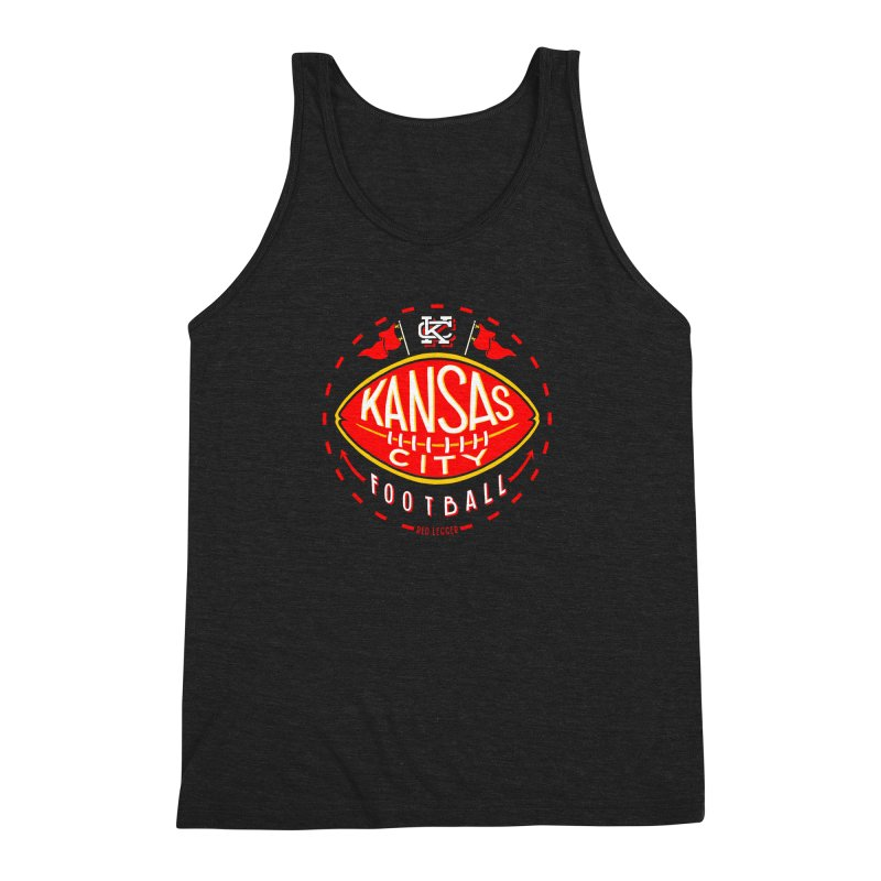 KC Football (Dark) Men's Triblend Tank by redleggerstudio's Shop
