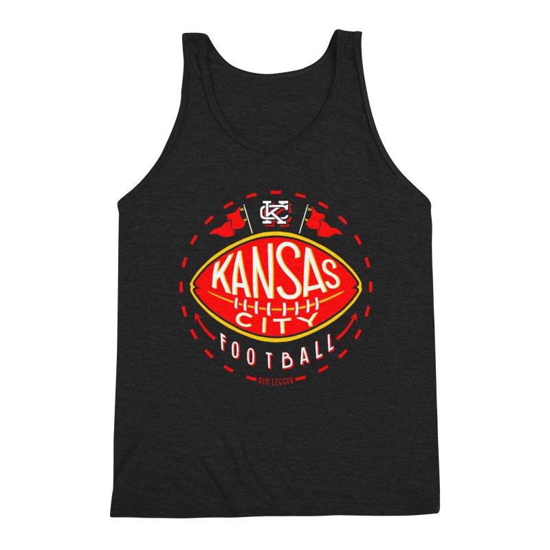 KC Football (Dark) Men's Triblend Tank by redleggerstudio's Shop