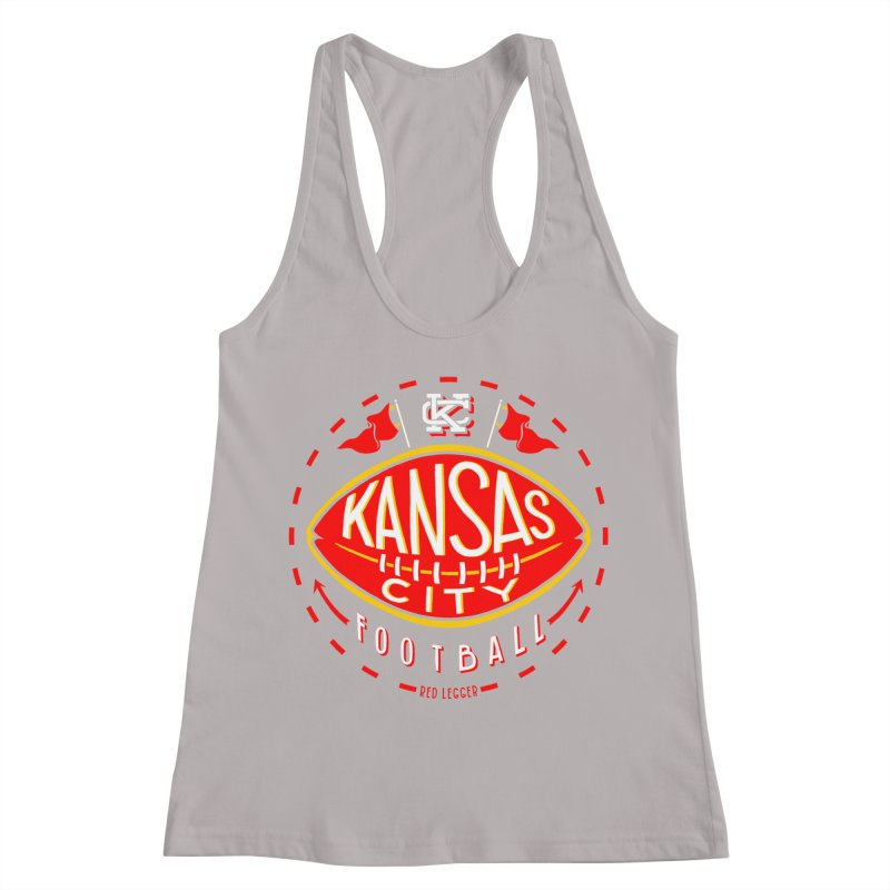 KC Football (Dark) Women's Racerback Tank by redleggerstudio's Shop