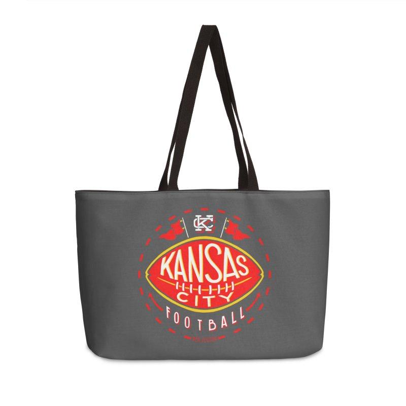 KC Football (Dark) Accessories Weekender Bag Bag by redleggerstudio's Shop